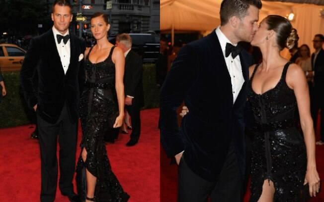 Gisele Bündchen e o marido Tom Brady