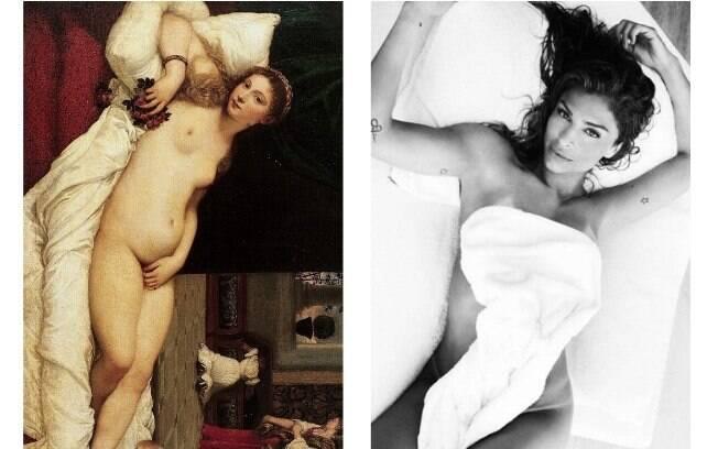 A arte imita a vida? Confira fotos de famosos que parecem obras de arte