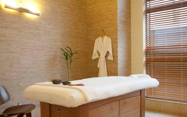 O spa do Grand Hyatt em versão para público masculino