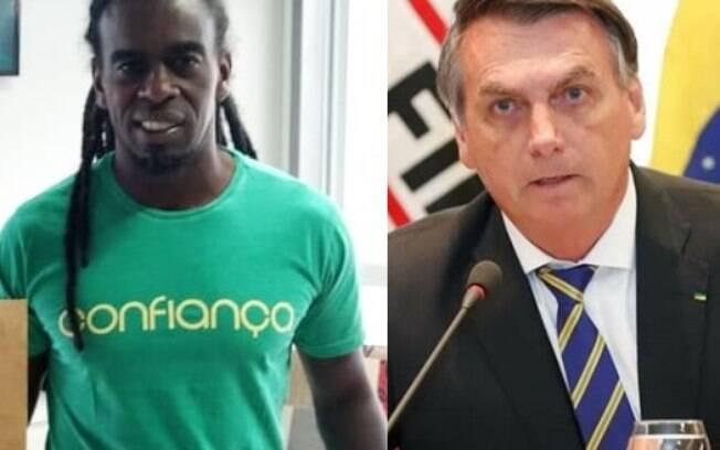 Tinga e Jair Bolsonaro