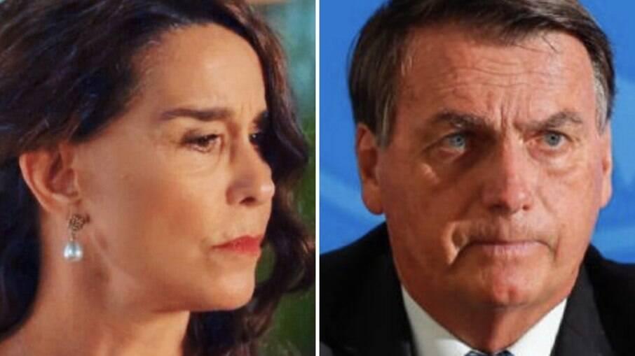 Lucélia Santos e Bolsonaro