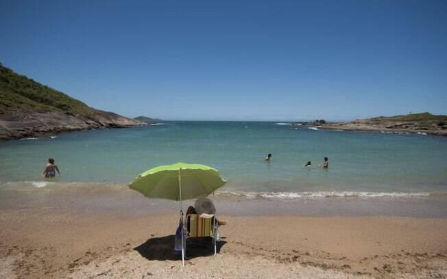 Praia Ponta dos Padres, em Guarapari