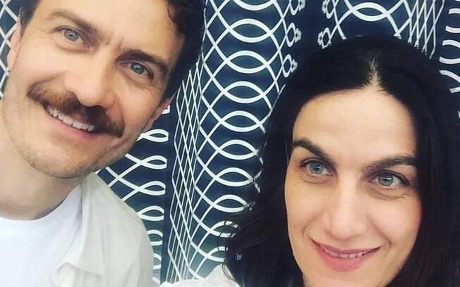 Gabriel Braga Nunes e a irmã Nina Nunes