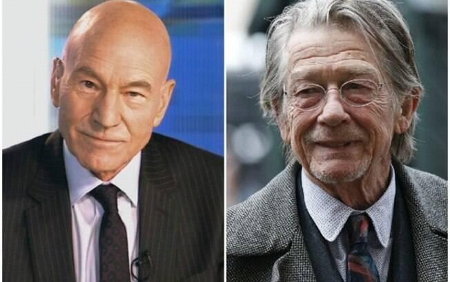 Fotos mostram que o tempo passa diferente: Patrick Stewart e John Hurt  (74 anos)