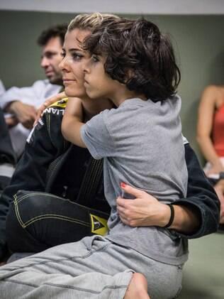 Tarik acompanhou Nair no dia que fez graduação de faixa no jiu-jitsu%2C em dezembro do ano passado