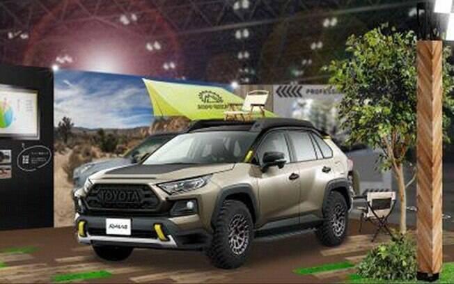 Teaser do Toyota RAV4 conceitual que surge equipado para encarar situações de fora-de-estrada mais pesadas