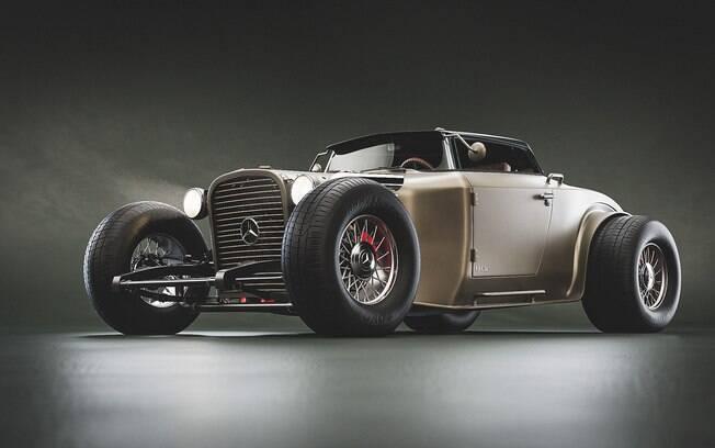 Hot Rod de Mercedes-Benz é a união de dois opostos. São carros de dois públicos, duas escolas diferentes e dois estilos diferentes