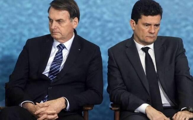 Presidente Jair Bolsonaro e ex-ministro Sergio Moro