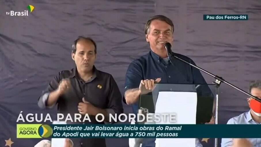 Bolsonaro em visita ao Rio Grande do norte nesta quinta-feira (24)