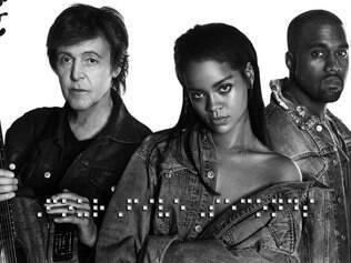 Entre Paul McCartney e Kanye West, Rihanna se diz empolgada com a parceria em seu novo single