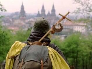 Depois de centenas de quilômetros, a visão da Catedral de Compostela