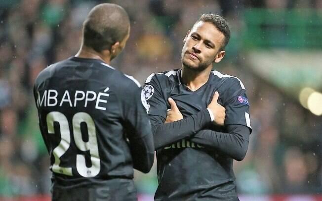 Neymar e Mbappé, companheiros de PSG, integram o top 3 de mais valiosos