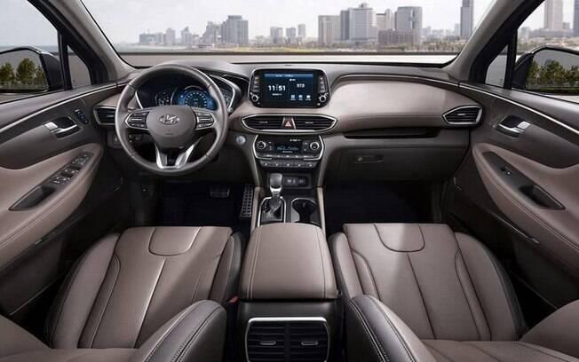 Hyundai Santa Fe 2019: as semelhanças com Kona e i30 continuam na cabine