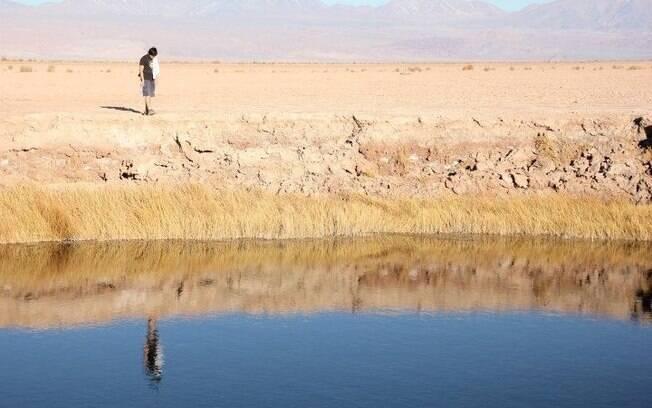 Uma das lagoas que formam o Ojos de Salar