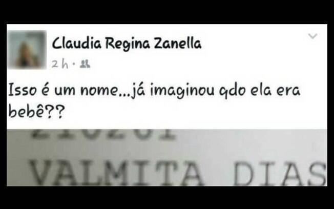 Médica Claudia Regina Zanella foi demitida após postagem debochando do nome da paciente em Praia Grande (SP)