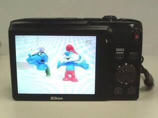 Visão traseira da Nikon CoolPix S3100