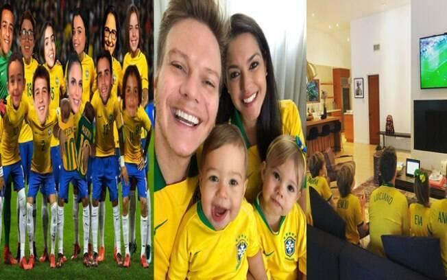 Famosos empolgados com a Copa do Mundo