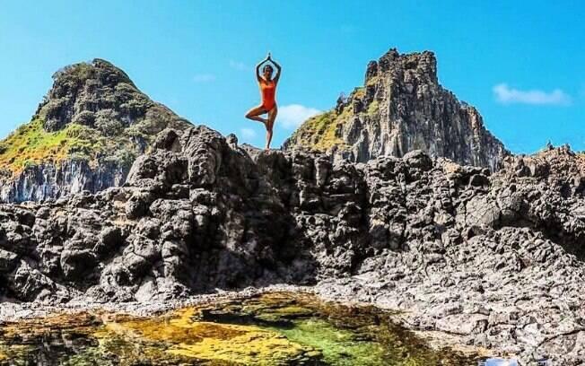 Giovanna Ewbank em Noronha aproveitando as paisagens paradisíacas
