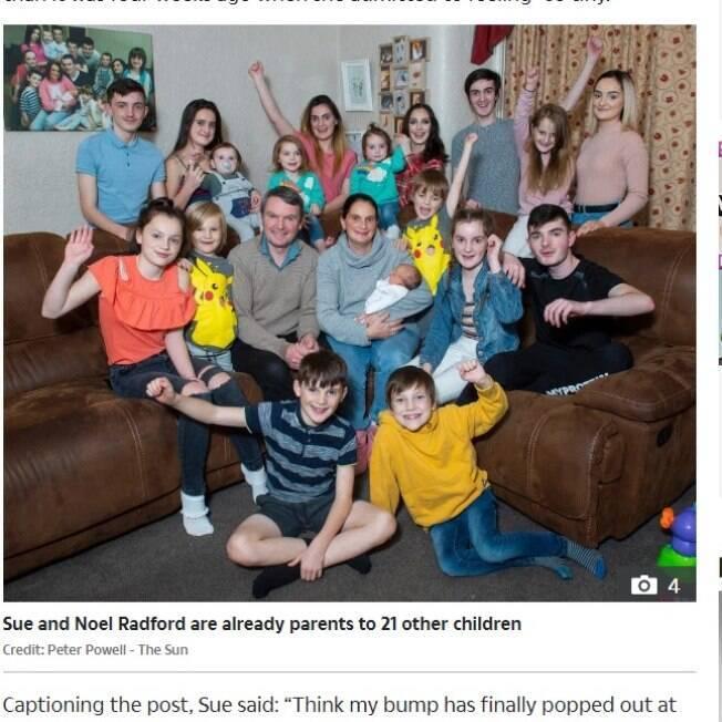 família com 22 filhos
