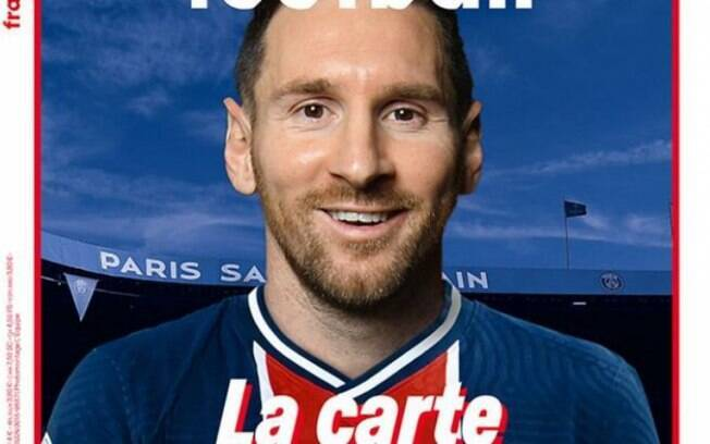 Revista francesa veste Lionel Messi com camisa do Paris Saint-Germain