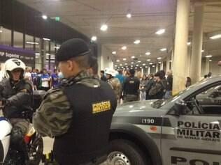 Presença da polícia no local manteve a ordem e nenhuma ocorrência foi registrada
