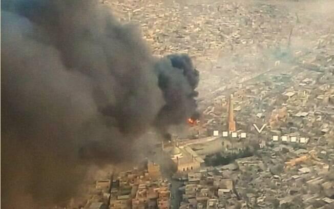 Agentes iraquianos expressaram esperança de que a mesquita pudesse ser capturada esta semana para festival
