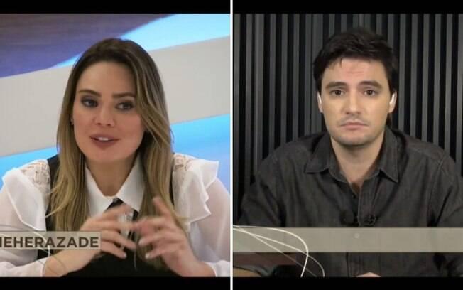 Felipe Neto e Rachel Sheherazade no