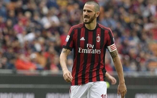 O zagueiro Bonucci foi o capitão do Milan na última temporada