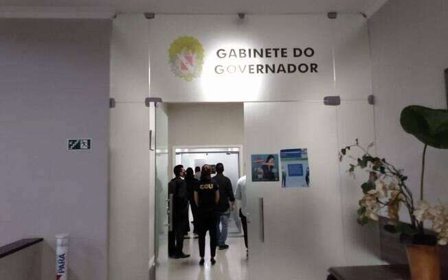 Buscas foram feitas no gabinete do governador do Pará na manhã desta terça-feira (29)
