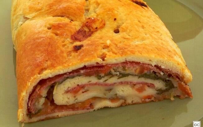 Rocambole italiano de salame: opção irresistível para o almoço
