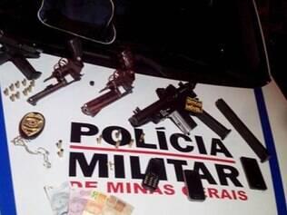 Armas apreendidas com quadrilha