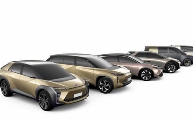 A Toyota mostra imagens de 10 novos carros elétricos até 2025 numa ofensiva para tornar este tipo de veículo mais popular