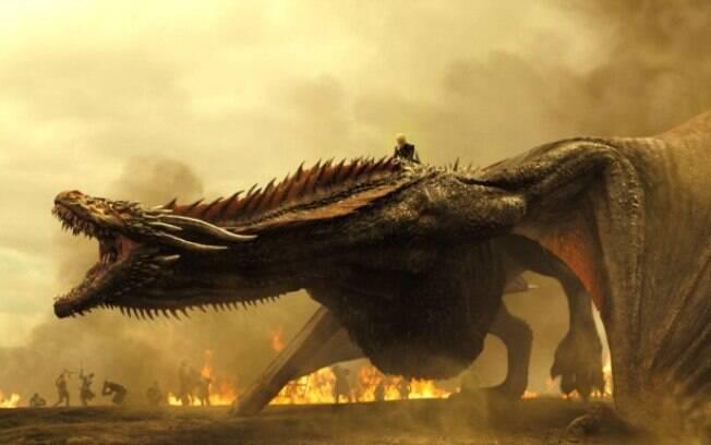 """Novas imagens de """"Game Of Thrones"""" mostram como estão os dragões no sétimo ano"""