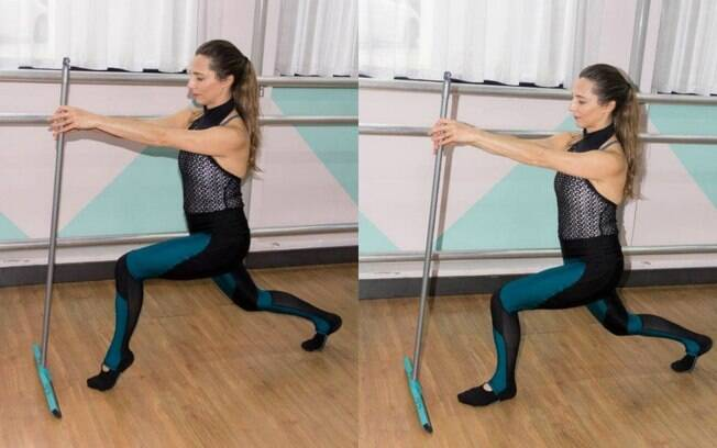 Exercícios em casa podem ser feitos com a ajuda de um rodo caso a pessoa não tenha acessórios de ginástica