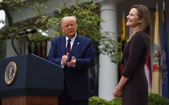 Donald Trump anuncia sua indicada à Suprema Corte, Amy Coney Barrett, na Casa Branca
