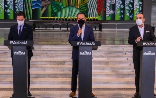 AO VIVO - Gestão Doria anuncia medidas de combate à covid no estado
