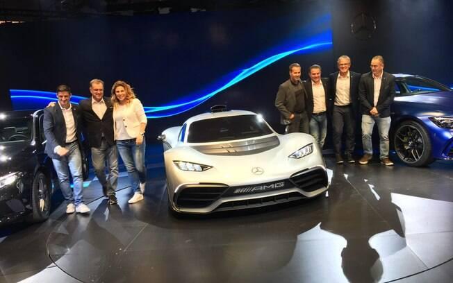 Mercedes exibe o supercarro Project One no Salão do Automóvel 2018. Apenas três estarão no Brasil