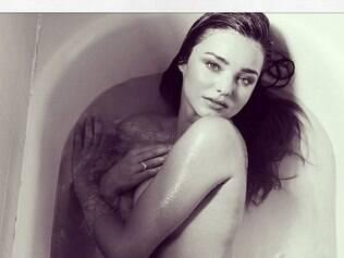 Modelo publicou foto de campanha em seu Instagram, um dia depois de confusão entre seu ex-marido e Bieber