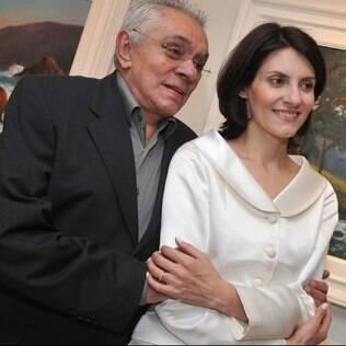 Chico Anysio com a esposa Malga di Paula