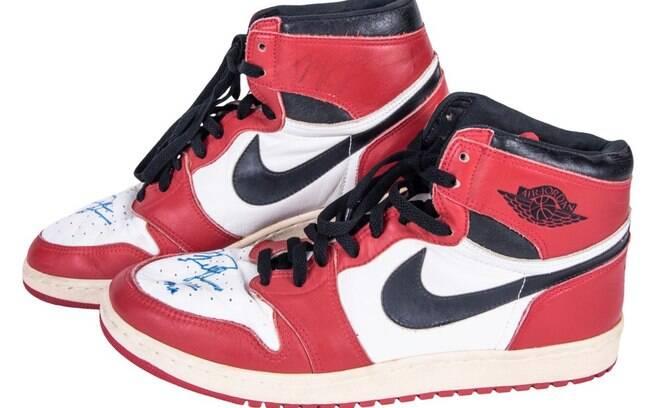 Air Jordan usado pela lenda do basquete