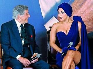 """Tony Bennett, 88, e Lady Gaga, 28, lançam juntos o alardeado álbum """"Cheek to Cheek"""""""