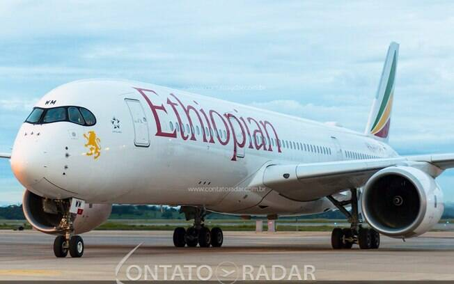 Airbus A350 da Ethiopian retorna para Confins neste domingo