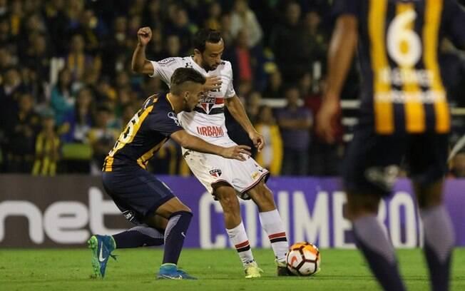São Paulo empatou com o Rosario Central pela Sul-Americana