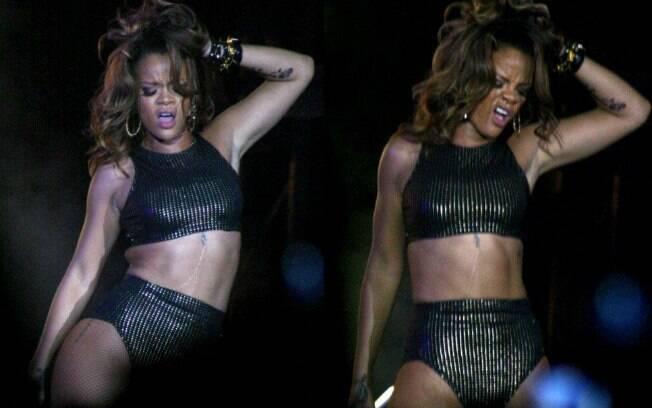 Rihanna esbanjou sensualidade em seu show em Brasília