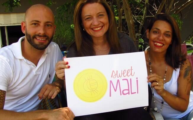 João Paulo, Danielle (centro) e Mariana (dir.), fundadores da Sweet Mali - assessoria especializada em eventos LGBTs