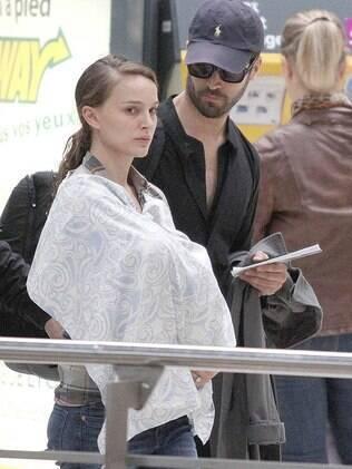 Natalie Portman com o filho Aleph