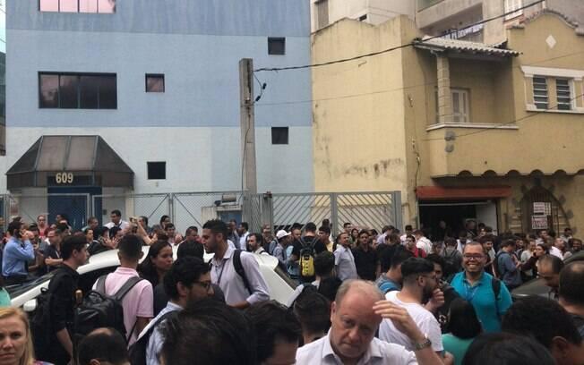 O prédio da Embratel, localizado na Bela Vista, em São Paulo (foto), precisou ser esvaziado após as pessoas sentirem o terremoto