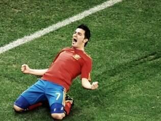 David Villa é o maior goleador da Espanha e vinha sem espaço no Barcelona