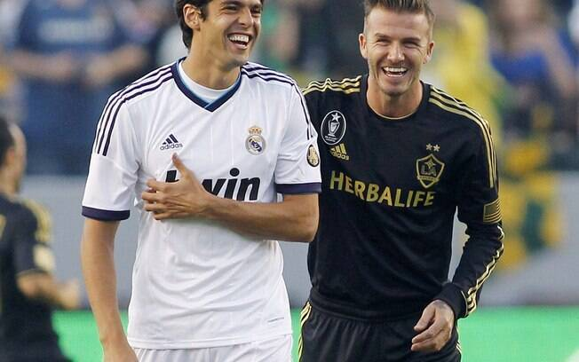 Beckham reencontrou Real Madrid, um de seus  antigos clubes, em amistoso em 2012
