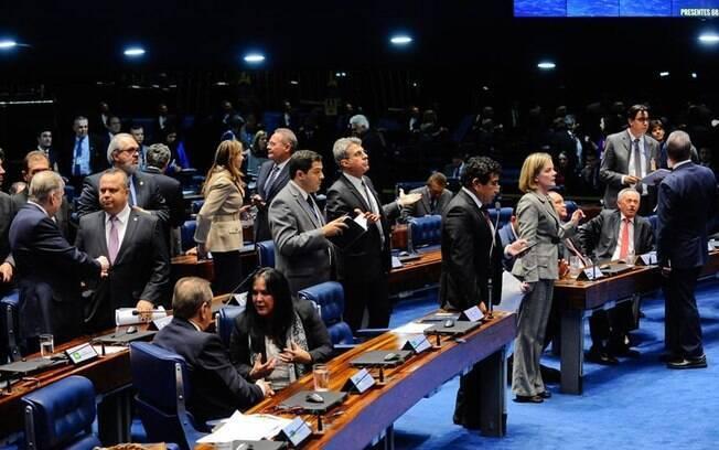 Senado durante uma das sessões para analisar a Reforma Trabalhista